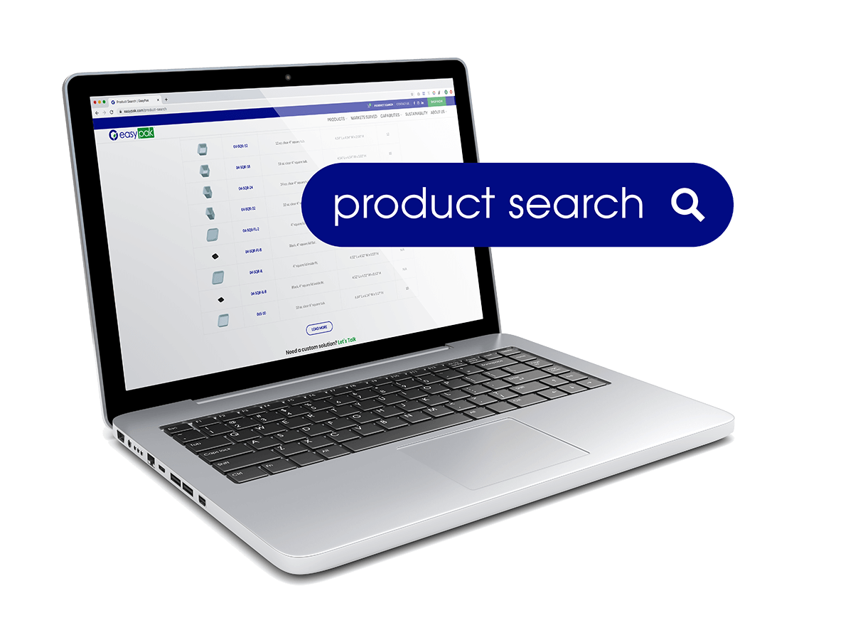 Laptop with easypak search